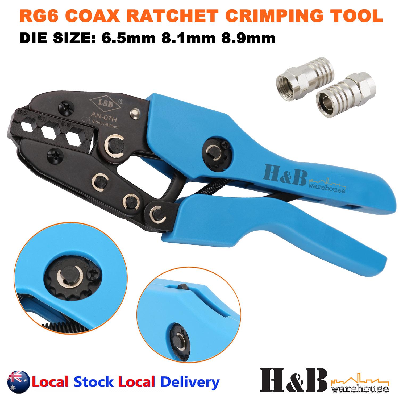 Coax Cable Crimper Tool Wire Cord Stripper F Connectors Tools Part For RG6 RG59